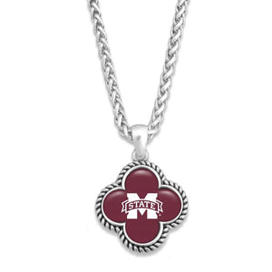 MS State Clover Necklace