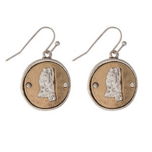Mississippi state earrings