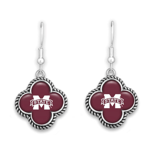 MS State Clover Earrings