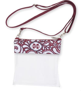 Clear Game Day Crossbody- Mississippi State