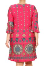 Mandala printed dress