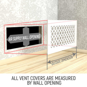 Elisabeth Vent Cover - Black Collection - Aria Rectangular Vent Cover - Silver Mirror Collection