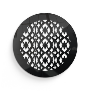 Charlotte Round Vent Cover -  Black Collection - Aria Rectangular Vent Cover - Silver Mirror Collection