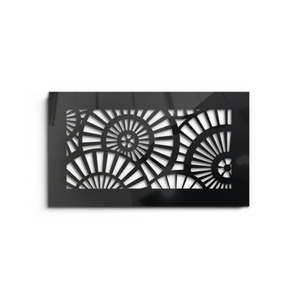 Waterwheel Vent Cover - Black Collection - Aria Rectangular Vent Cover - Silver Mirror Collection