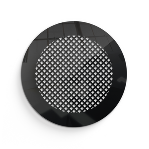 Giovanna Round Vent Cover - Black Collection - Aria Rectangular Vent Cover - Silver Mirror Collection