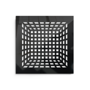 Isadora Vent Cover - Black Collection - Aria Rectangular Vent Cover - Silver Mirror Collection