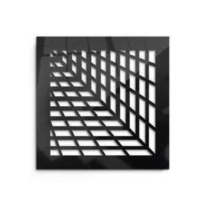 Vivian Vent Cover - Black Collection - Aria Rectangular Vent Cover - Silver Mirror Collection