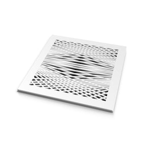 Brooklyn Vent Cover - White Collection - Aria Rectangular Vent Cover - Silver Mirror Collection