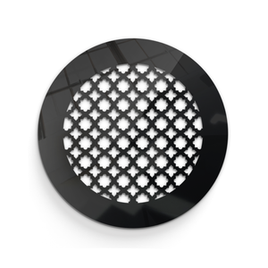 Venetian Round Vent Cover - Black Collection - Aria Rectangular Vent Cover - Silver Mirror Collection