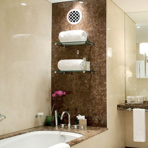 Venetian Round Vent Cover-White Collection - Aria Rectangular Vent Cover - Silver Mirror Collection