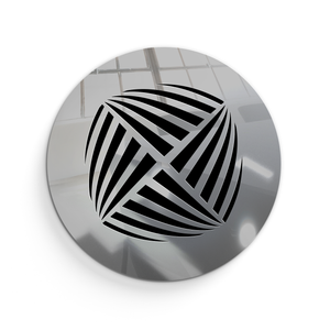 Aria Round Vent Cover - Silver Mirror Collection