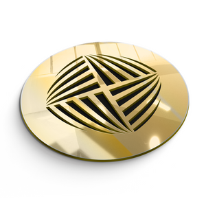 Aria Round Vent Cover - Gold Mirror Collection - Aria Rectangular Vent Cover - Silver Mirror Collection