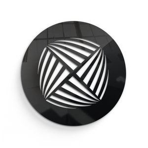 Aria Round Vent Cover - Black Collection - Aria Rectangular Vent Cover - Silver Mirror Collection