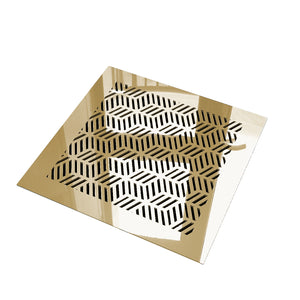 Elisabeth Vent Cover - Gold Mirror Collection - Aria Rectangular Vent Cover - Silver Mirror Collection