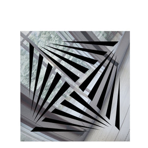 Aria Vent Cover - Silver Mirror Collection - Aria Rectangular Vent Cover - Silver Mirror Collection