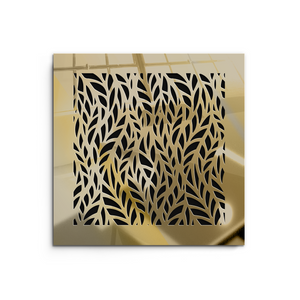 Barbara Vent Cover - Gold Mirror Collection - Aria Rectangular Vent Cover - Silver Mirror Collection