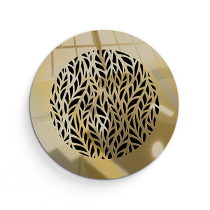 Barbara Round Vent Cover - Gold Mirror Collection