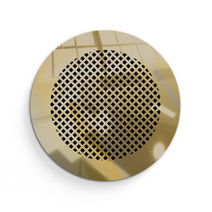 Giovanna Round Vent Cover - Gold Mirror Collection