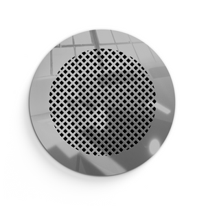 Giovanna Round Vent Cover - Silver Mirror Collection - Aria Rectangular Vent Cover - Silver Mirror Collection