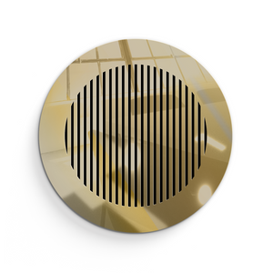 Katherine Round Vent Cover- Gold Mirror Collection - Aria Rectangular Vent Cover - Silver Mirror Collection