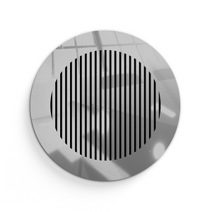 Katherine Round Vent Cover- Silver Mirror Collection - Aria Rectangular Vent Cover - Silver Mirror Collection