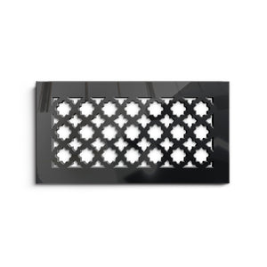 Venetian Vent Cover - Black Collection - Aria Rectangular Vent Cover - Silver Mirror Collection