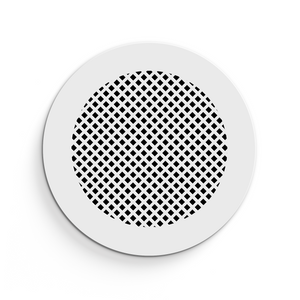 Giovanna Round Vent Cover - White Collection - Aria Rectangular Vent Cover - Silver Mirror Collection