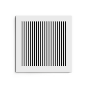 Katherine Vent Cover - White Collection - Aria Rectangular Vent Cover - Silver Mirror Collection