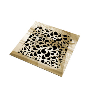 Jasmine Vent Cover - Gold Mirror Collection - Aria Rectangular Vent Cover - Silver Mirror Collection