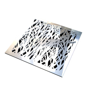 Florence Vent Cover - Silver Mirror Collection - Aria Rectangular Vent Cover - Silver Mirror Collection