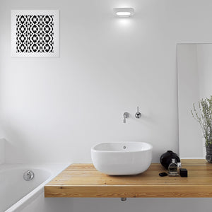 Charlotte Vent Cover - White Collection - Aria Rectangular Vent Cover - Silver Mirror Collection