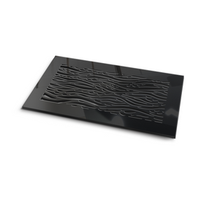 Waves Vent Cover - Black Collection - Aria Rectangular Vent Cover - Silver Mirror Collection