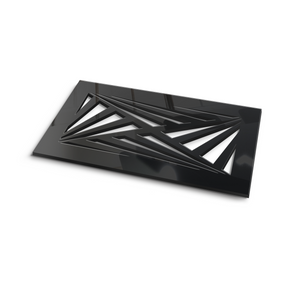 Aria Vent Cover - Black Collection - Aria Rectangular Vent Cover - Silver Mirror Collection