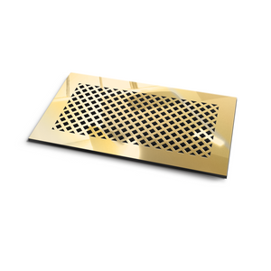 Giovanna Vent Cover - Gold Mirror Collection - Aria Rectangular Vent Cover - Silver Mirror Collection
