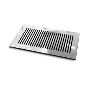 Katherine Vent Cover - Silver Mirror Collection - Aria Rectangular Vent Cover - Silver Mirror Collection