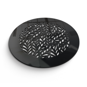 Barbara Round Vent Cover - Black Collection - Aria Rectangular Vent Cover - Silver Mirror Collection