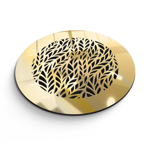 Barbara Round Vent Cover - Gold Mirror Collection - Aria Rectangular Vent Cover - Silver Mirror Collection