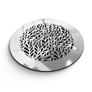 Barbara Round Vent Cover - Silver Mirror Collection - Aria Rectangular Vent Cover - Silver Mirror Collection