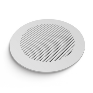Katherine Round Vent Cover- White Collection - Aria Rectangular Vent Cover - Silver Mirror Collection