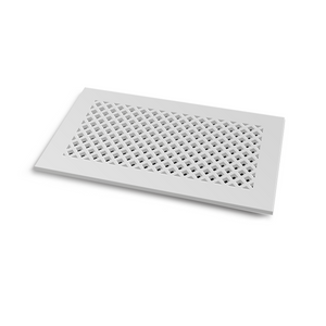 Giovanna Vent Cover - White Collection - Aria Rectangular Vent Cover - Silver Mirror Collection