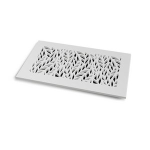 Barbara Vent Cover - White Collection - Aria Rectangular Vent Cover - Silver Mirror Collection