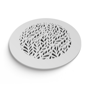 Barbara Round Vent Cover - White Collection - Aria Rectangular Vent Cover - Silver Mirror Collection
