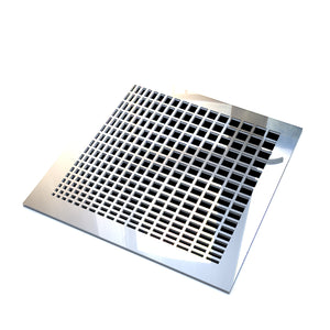 Maia Vent Cover - Silver Mirror Collection - Aria Rectangular Vent Cover - Silver Mirror Collection