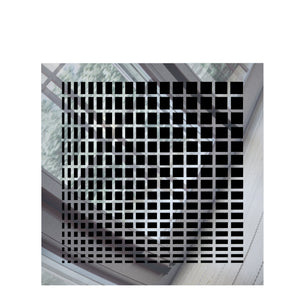 Maia Square Vent Cover - Silver Mirror Collection - Aria Rectangular Vent Cover - Silver Mirror Collection