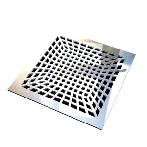 Isadora Vent Cover - Silver Mirror Collection - Aria Rectangular Vent Cover - Silver Mirror Collection