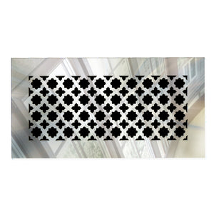 Venetian Rectangular Vent Cover - Silver Mirror Collection - Aria Rectangular Vent Cover - Silver Mirror Collection