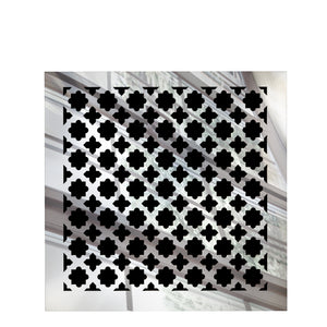 Venetian Square Vent Cover - Silver Mirror Collection - Aria Rectangular Vent Cover - Silver Mirror Collection