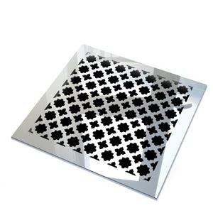 Venetian Vent Cover - Silver Mirror Collection - Aria Rectangular Vent Cover - Silver Mirror Collection