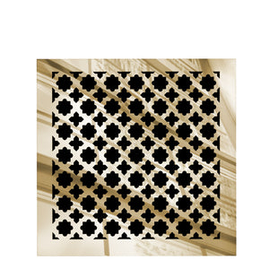 Venetian Square Vent Cover - Gold Mirror Collection - Aria Rectangular Vent Cover - Silver Mirror Collection