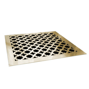 Venetian Vent Cover - Gold Mirror Collection - Aria Rectangular Vent Cover - Silver Mirror Collection